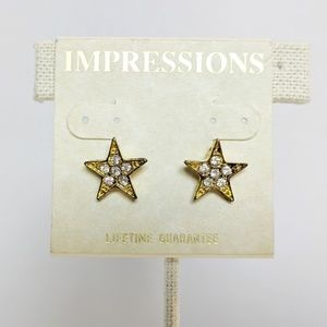 💢3 for $25💢 Impressions Gold Star Earrings
